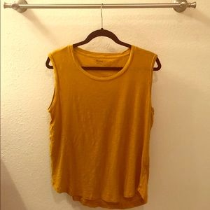 Madewell Tank Top- mustard color - size large